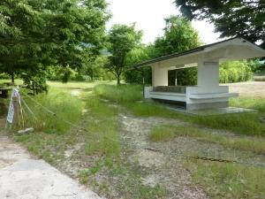 閉鎖された盛キャンプ場