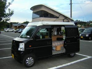田万川キャンプ場の駐車場