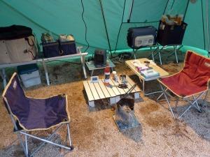 テントの室内