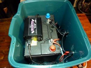自作電源BOXの内部