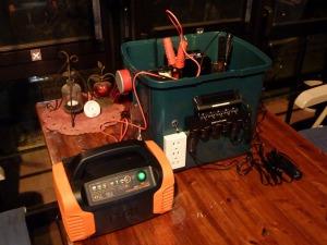自作電源BOXの充電