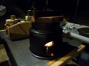 釜飯コンロで炊飯