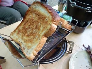 fanマルチロースターでトースト
