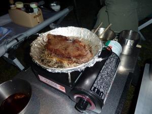 カセットフーJr.でステーキ