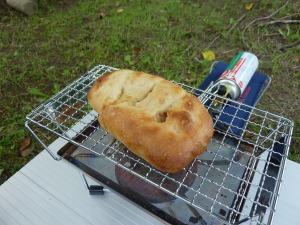 fanマルチロースターでパン焼き