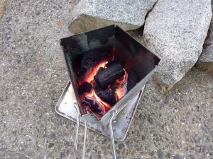 火起し器で炭火着火