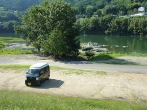 美濃田の渕キャンプ場とKONG