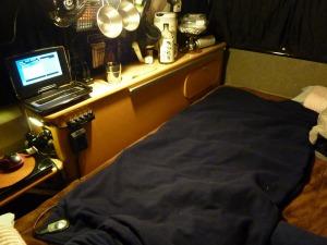 広げた車用電気毛布