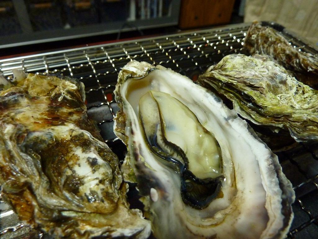 殻付き焼き牡蠣