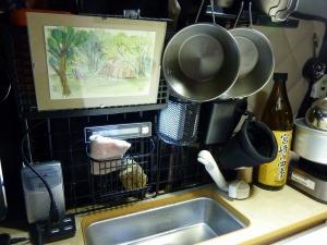 シェラカップを洗って乾燥