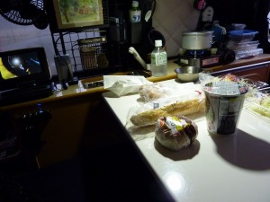 朝食は粗食