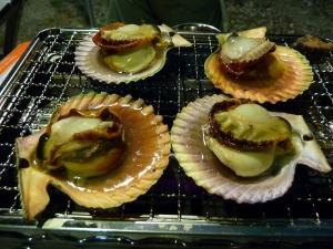 長太郎貝の網焼き