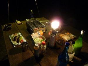 夕食開始前