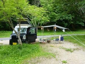 立野キャンプ場とKONG