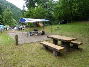 ほたる見公園キャンプ場のサイトセッティング
