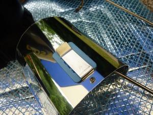 蚊トリフレクターにベープマット装着