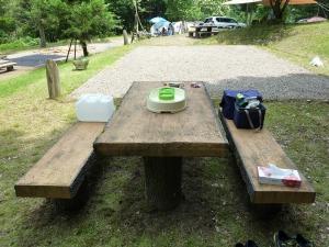 キャンプ道具を撤収