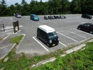 桝水高原駐車場とKONG