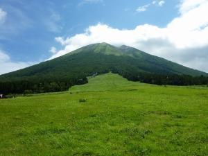 桝水高原から望む大山
