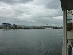 和歌山港を出発
