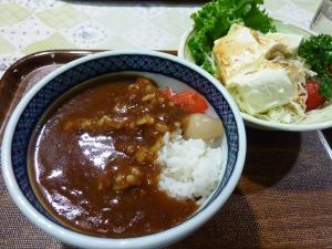 下松サービスエリアのミニカレー丼