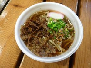 さんべ祭の肉そば_20121028