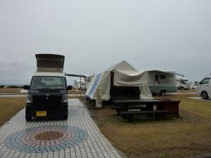 石見海浜公園オートキャンプ場とKONG