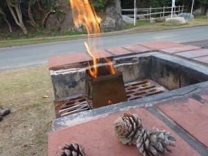 ネイチャーストーブで焚き火_20121118