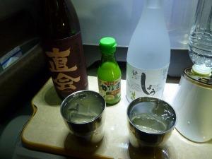 白水鉱泉の天然炭酸水で割ったかぼす焼酎
