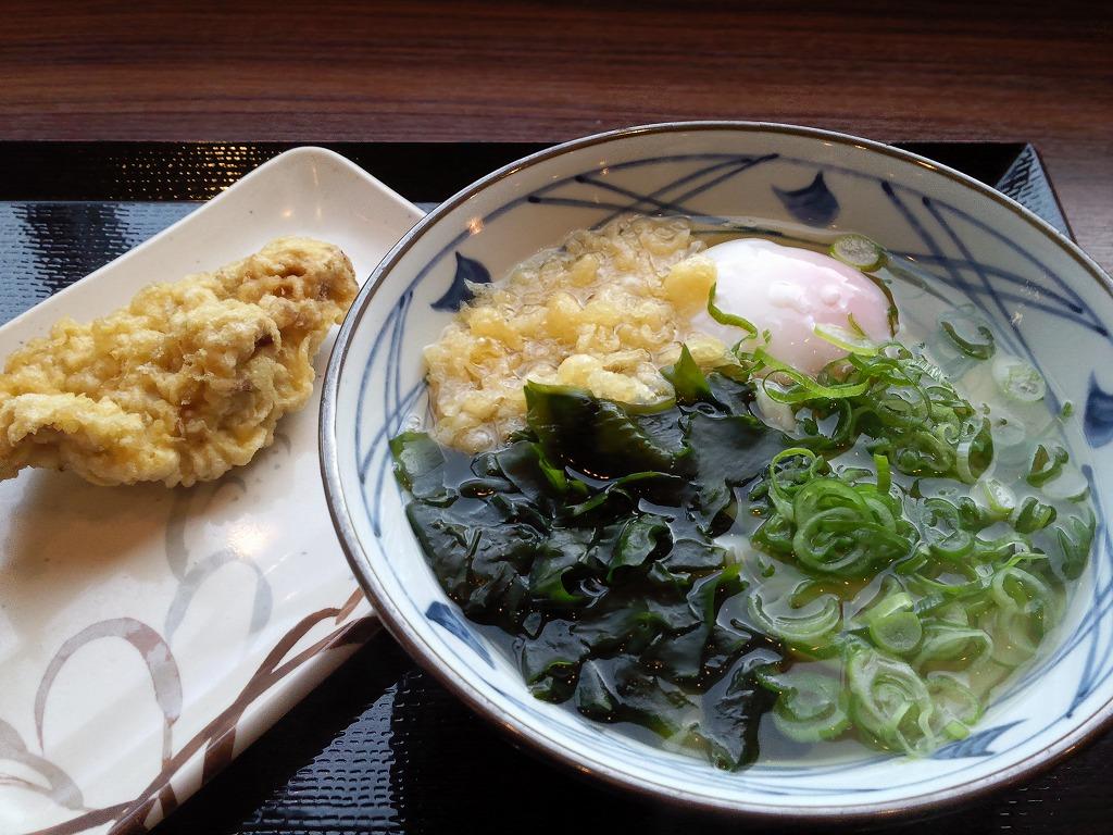 丸亀製麺の朝うどんとささみ天