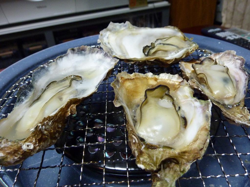 自宅で牡蠣網焼き_20130127