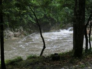 濁流と化した広見川_20130728