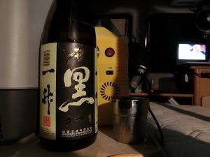 地酒のまえつるで購入した焼酎を頂く_20130914