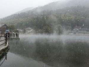 雪の金鱗湖_20131221