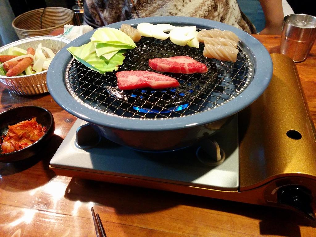 達人網焼きプレートで焼き肉_20140208