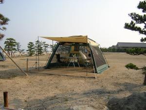 海水浴キャンプの風景_20050625