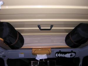 頭上でデッドスペースに寝袋収納_20091001
