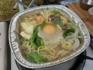 残り物野菜とゆで麺でチャンポン_20140506