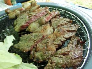 ステーキの網焼き_20140712