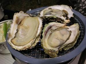 岩牡蠣を焼いて_20140719