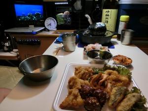 車中泊の夕食_20140816