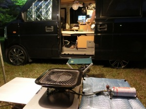 奈佐森林公園キャンプ場で車中泊キャンプ_20140913