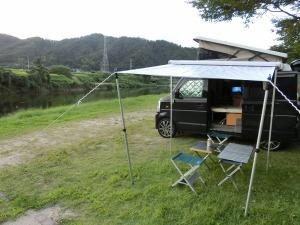 車中泊キャンプ準備OKのKONG_20140914