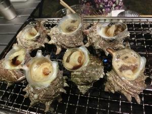 萩沖産サザエのつぼ焼き_20140920