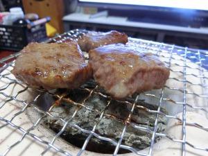ミニ七輪で焼き肉_2_20150103
