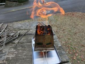 ネイチャーストーブで焚き火_20141207