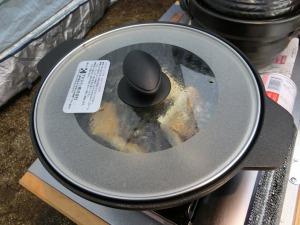 マルチプレートで塩サバを焼く_20150322