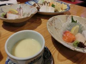 刺し身と茶碗蒸し_20150404