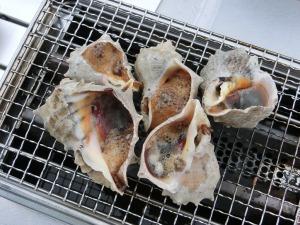1パック300円の赤ニシ貝を壺焼き_20150613
