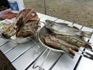 岩牡蠣など豪華な食材_20150718